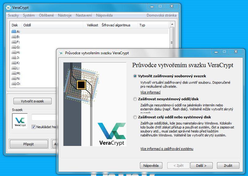 VeraCrypt – šifrování souborů